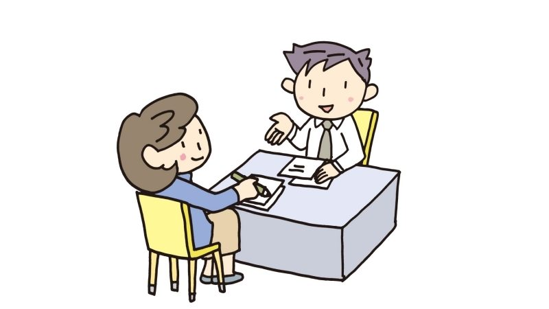 仮想通貨の件で税理士に相談するおばさん
