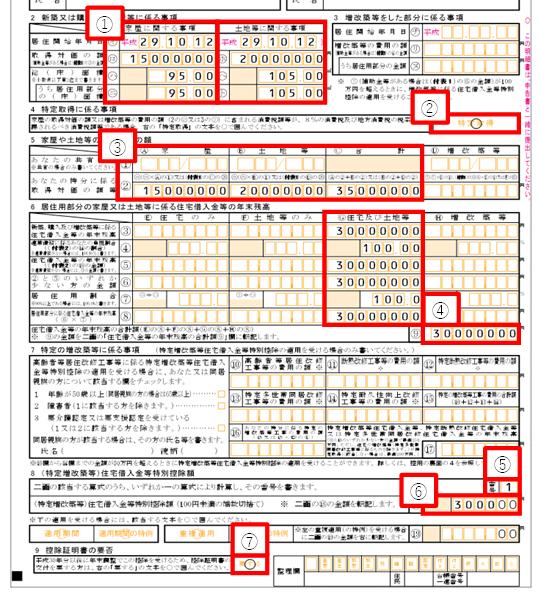 (特定増改築等)住宅借入金等特別控除額の計算明細書の書き方その1